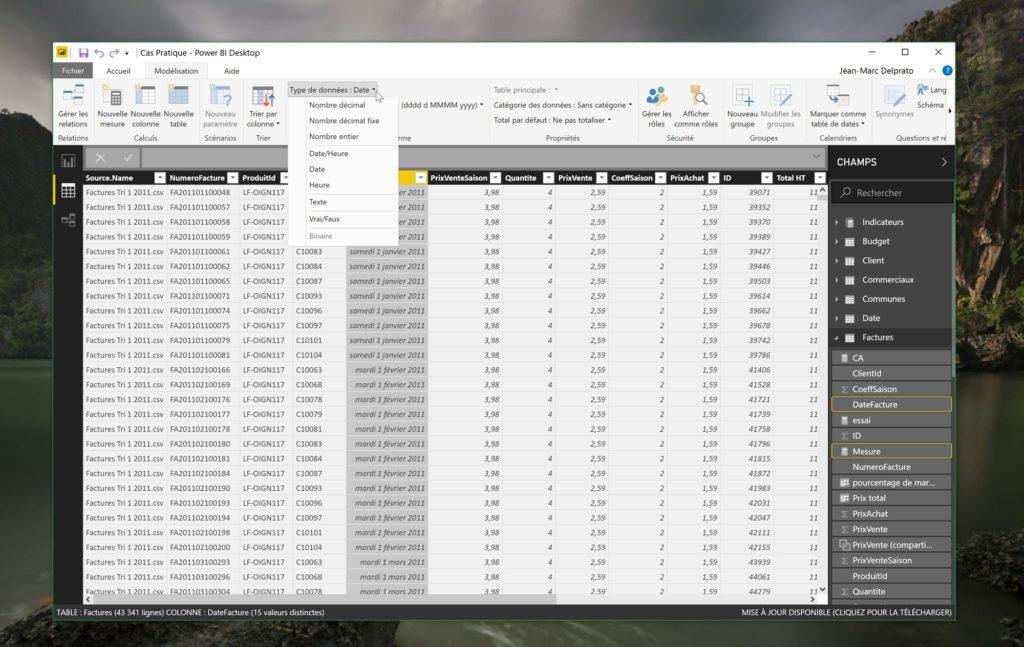 Commencez par vous assurer que tous vos types de données sont bien corrects